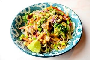 Vegan Peanut Noodle Stir Fry | SoCo Vedge - Vegan Food Delivery Service | Narragansett, Rhode Island