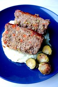 Vegan Meatloaf with Mashed Potatoes and Brussel Sprouts | SoCo Vedge - Vegan Food Delivery Service | Narragansett, Rhode Island
