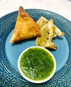 Vegan Indian Samosa with Mint Chutney | SoCo Vedge - Vegan Food Delivery Service | Narragansett, Rhode Island