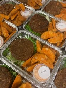 Vegan Lentil Walnut Burger | SoCo Vedge - Vegan Food Delivery Service | Narragansett, Rhode Island