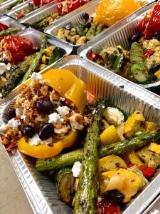 Vegan Greek Stuffed Pepper with Marinated Vegetables | SoCo Vedge - Vegan Food Delivery Service | Narragansett, Rhode Island