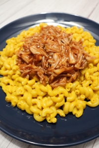 Vegan Macaroni and Cheese topped with BBQ Pulled Jackfruit | SoCo Vedge - Vegan Food Delivery Service | Narragansett, Rhode Island