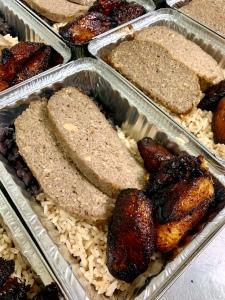 Vegan Mojo Pork with Cuban Black Beans, Rice and Plantains | SoCo Vedge - Vegan Food Delivery Service | Narragansett, Rhode Island