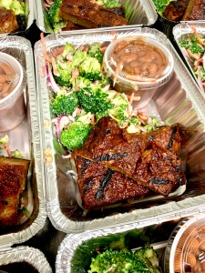 Vegan BBQ Ribs with Broccoli Salad and Baked Beans | SoCo Vedge - Vegan Food Delivery Service | Narragansett, Rhode Island