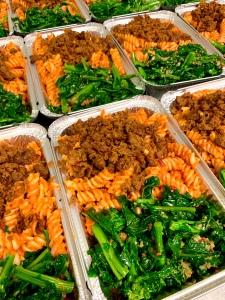 Vegan Calabrian Pesto Pasta with Calabrian Seitan Sausage Crumbles | SoCo Vedge - Vegan Food Delivery Service | Narragansett, Rhode Island