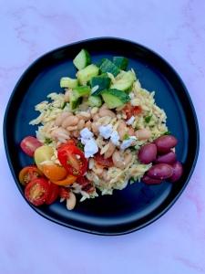 Vegan Greek Orzo Bowl | SoCo Vedge - Vegan Food Delivery Service | Narragansett, Rhode Island
